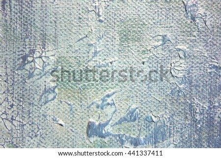 Macro Blue and White Paint Textures 10 - stock photo