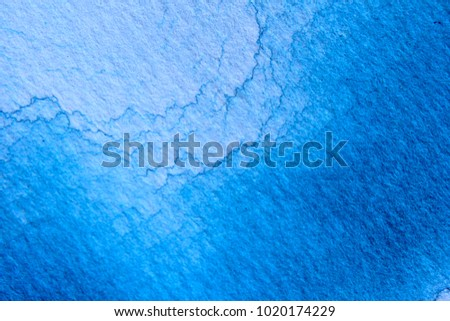 Macro Blue Watercolor Background Textures