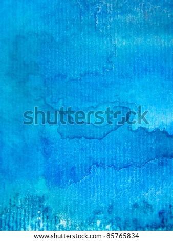 Macro Blue Watercolor Textures 5 - stock photo