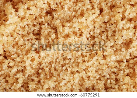 macro brown sugar
