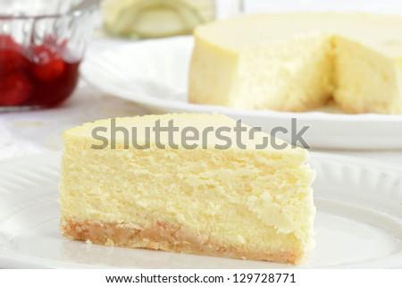 Macro cheesecake - stock photo