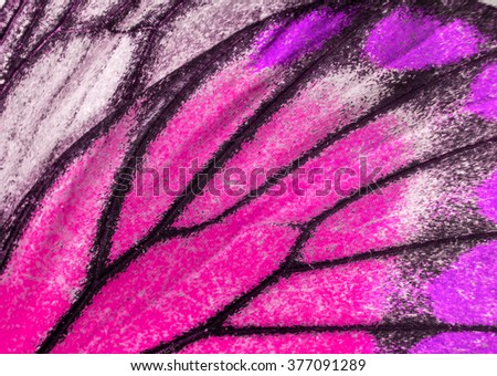 Macro closeup of butterfly wing texture background pattern. - stock photo