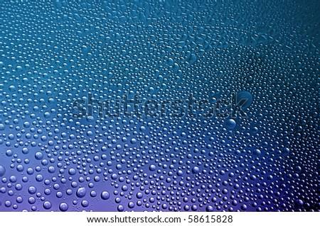 Macro closeup of condensation water bubbles - stock photo