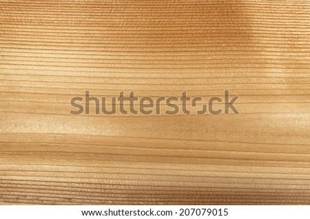 Macro closeup of natural red cedar wood plank woodgrain texture - stock photo