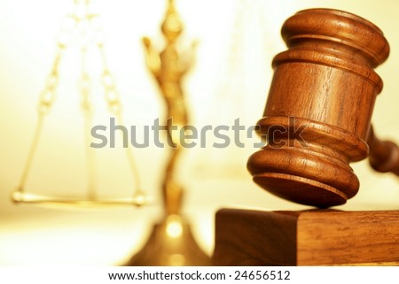 Macro detail of a legal concept - stock photo