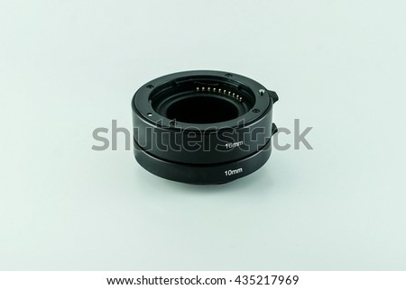 Macro extension tube for macro photography which consist of 16mm and 10mm tubes