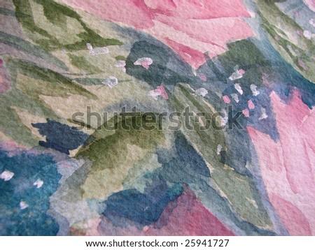 Macro Floral Watercolor - stock photo