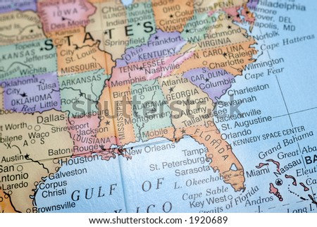 Southeast US Wall Map Magnified Image Basemaps Atlases Of The US - Usa map in detail
