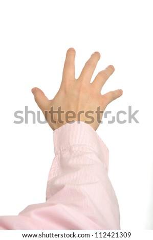 Macro hand gesture - stock photo