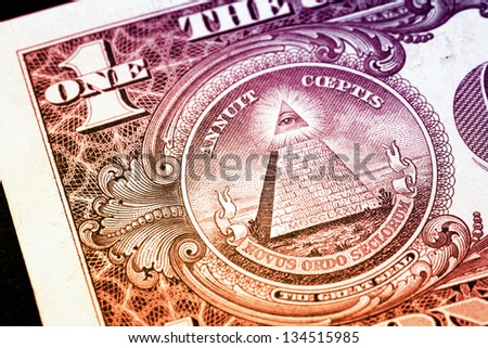 Macro image of a dollar - stock photo