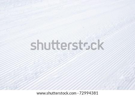 Macro image of a snow track. - stock photo