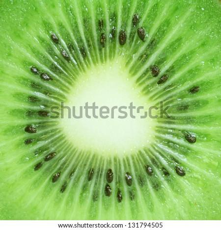 Macro kiwi fruit for background - stock photo