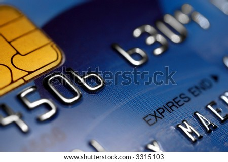 Macro of a credit card - shallow DOF - stock photo