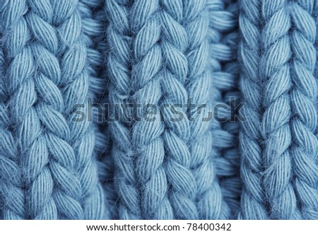 Macro of a woolen Pattern - Knitting Pattern with Purls and Knits - stock photo