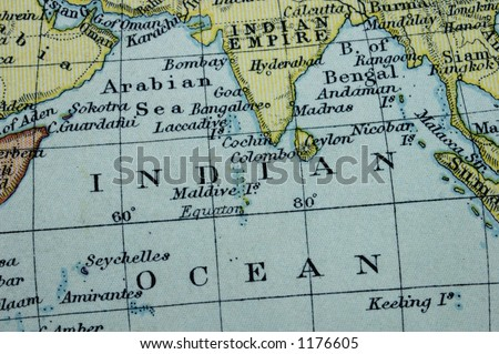 Indian Ocean Map Stock Images RoyaltyFree Images Vectors - Indian ocean seychelles map