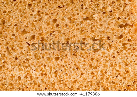 macro of  bread texture
