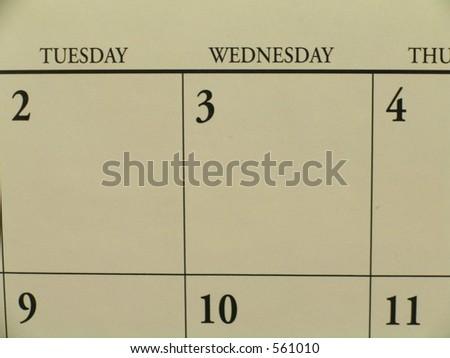 macro of calendar - stock photo