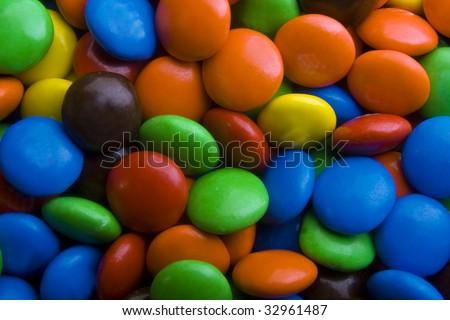 Macro of Candy - stock photo