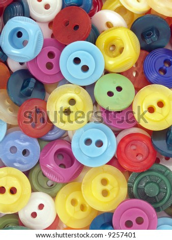 Macro of colored buttons