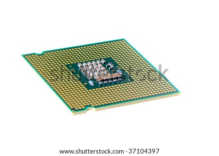 macro of cpu processor with shallow DOF