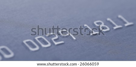 macro of credit card numbers wide aspect ratio