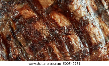 Macro of grilled meat