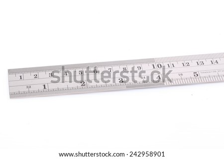 Macro of metal ruler