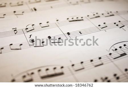 Macro of music - stock photo