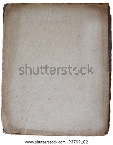 Macro of old parchment paper. c.1760. Image captured in natural light. - stock photo