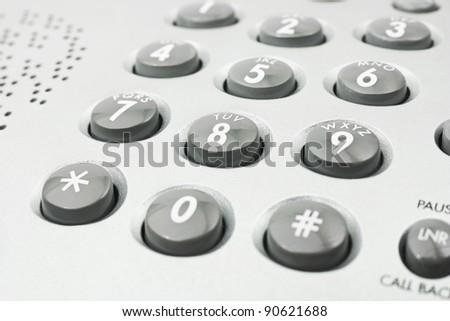 Macro of phone keypad - business background - stock photo