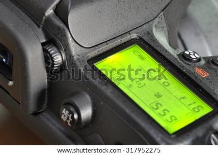 Macro of professional digital camera. - stock photo