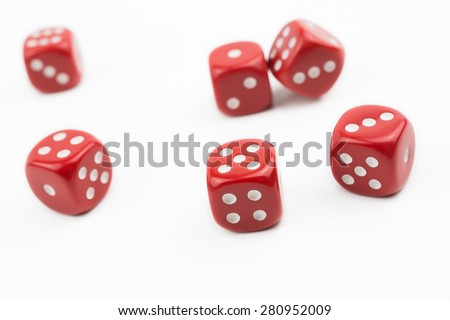 Macro Of Six Dices Besides In A White Box #1