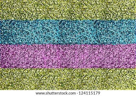 Macro of Striped Glitter Background - stock photo