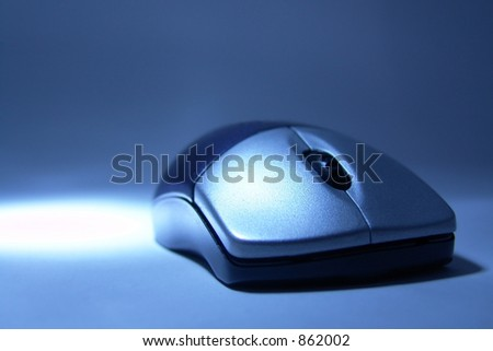 macro of stylish wireless mouse