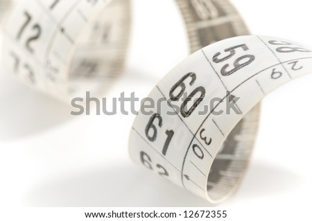 Macro of tape measure
