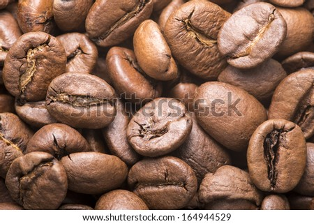 Macro of the coffee beans