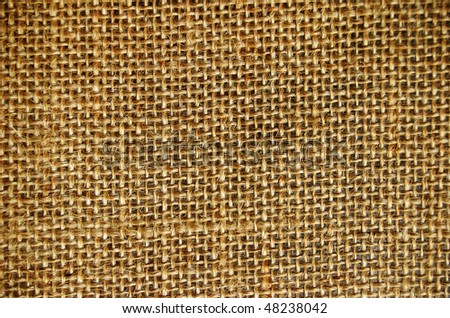 Macro ornament of textile canvas - stock photo