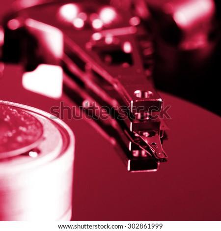 Macro photo - Hard Disk Drive. - stock photo