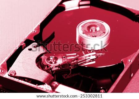Macro photo - Hard Disk Drive. Great details ! - stock photo