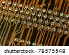 Macro photo of a computer motherboard. - stock photo