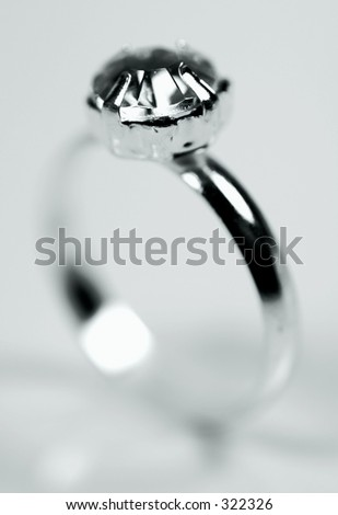 Macro Photo of a Diamond Ring.