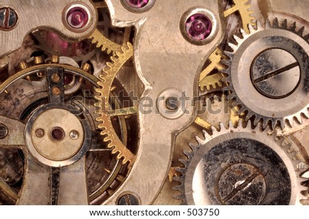 Macro Photo of a Watch Movement
