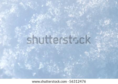 Macro photo of bright snow background - stock photo
