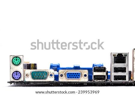 Macro Photo Of Electronic Circuit. Pcb On The Lighting. - stock photo