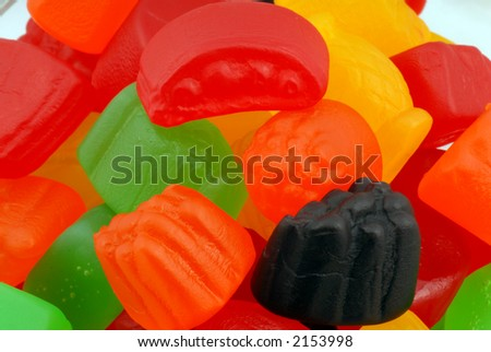 Macro photo of jujubes. - stock photo