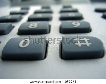 macro photo of telephone buttons made of rubber - stock photo
