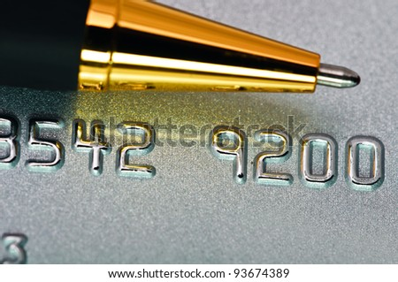 Macro picture of a credit card as a background. - stock photo