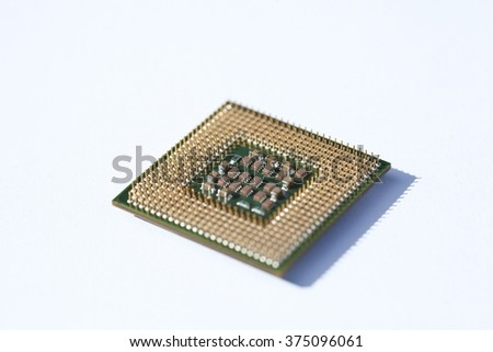 Macro picture of computer electronics