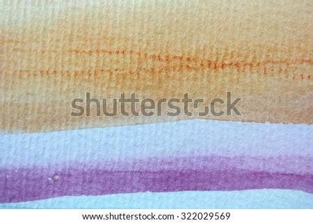 Macro Rainbow Watercolor 5 - stock photo