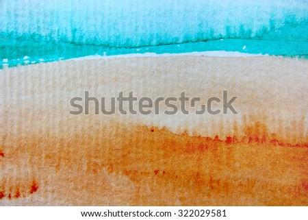 Macro Rainbow Watercolor 10 - stock photo
